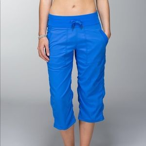 Lululemon Studio Crop No Liner Blue Pants